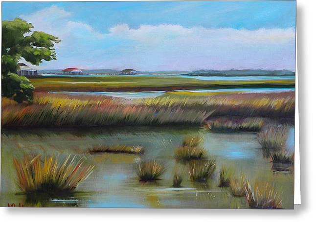 Marsh At Yellow Bluff Greeting Card by Karen Macek