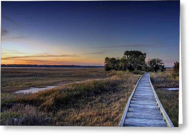 Marsh Bridge Greeting Card by Phill Doherty