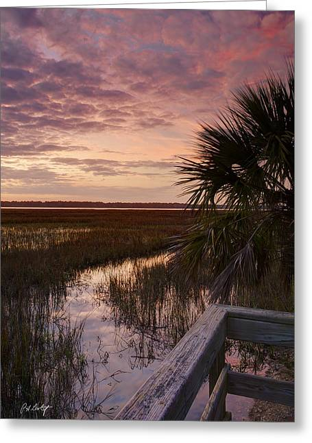Marsh Dock Greeting Card by Phill Doherty
