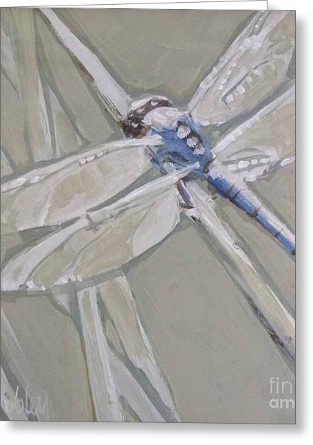 Marsh Dragonfly Greeting Card by Mary Hubley