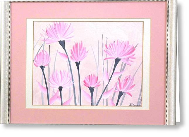 Marsh Flowers Greeting Card by Ron Davidson
