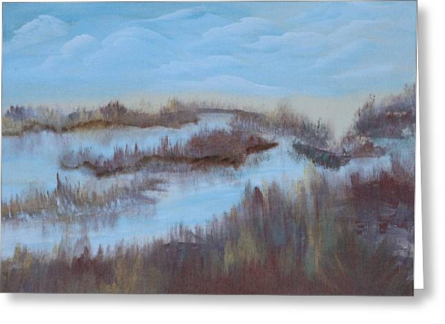 Marsh Land Greeting Card by Mary Grabill