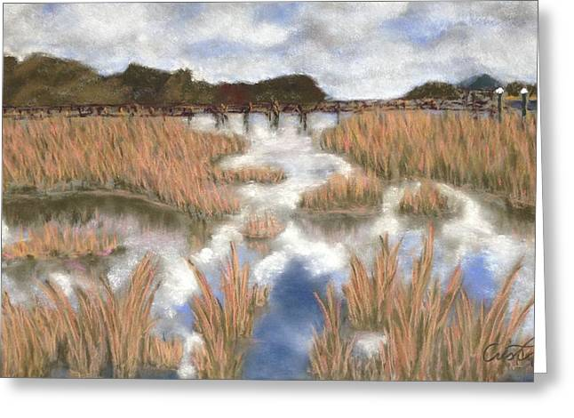 Marsh Reflections Greeting Card by Cristel Mol-Dellepoort