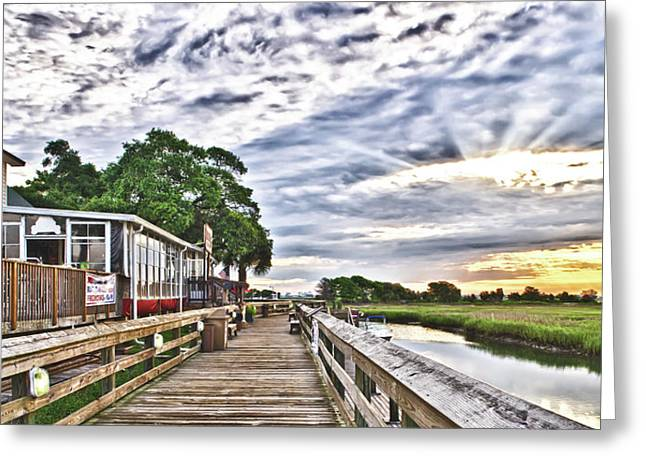 Marsh Walk 1 - Murrells Inlet Greeting Card