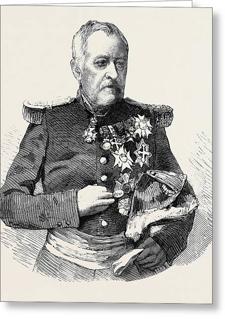 Marshal Castellane Commander-in-chief Of The Army Of Lyons Greeting Card by English School