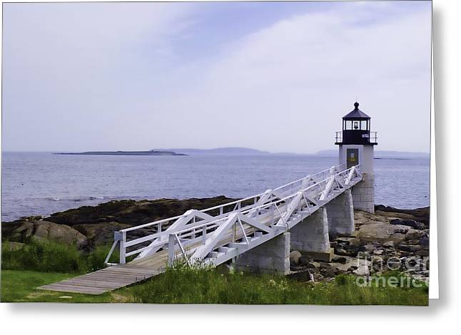 Marshall Point Light 1 Stylized Greeting Card by Patrick Fennell