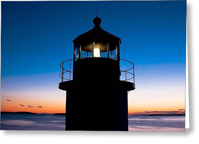 Marshall Point Lighthouse At Sunset In Maine Greeting Card by Keith Webber Jr