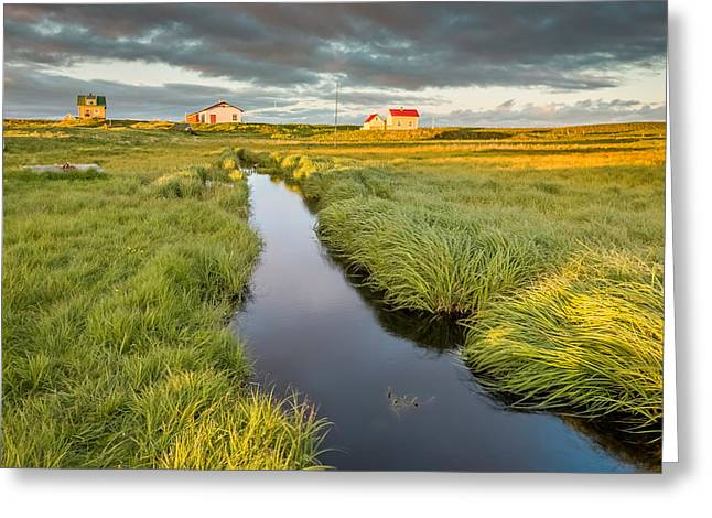 Marshland And Summer Houses, Flatey Greeting Card by Panoramic Images