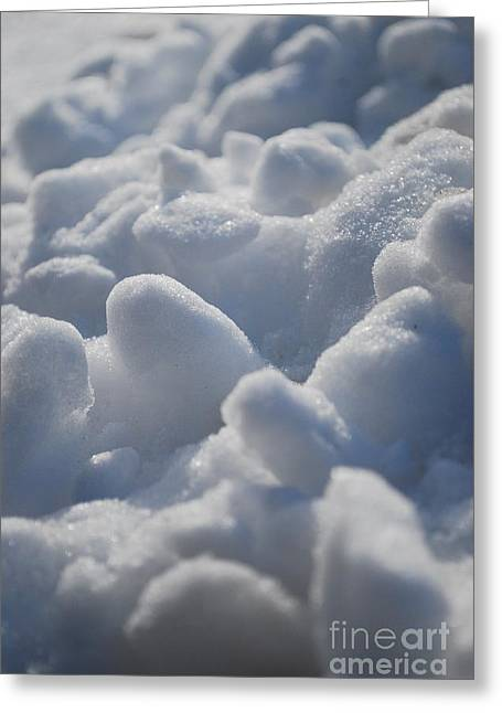 Marshmallow Mounds Greeting Card by Susan Hernandez