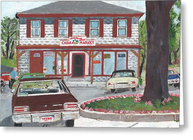 Marstons Mills Cash Market Greeting Card by Cliff Wilson