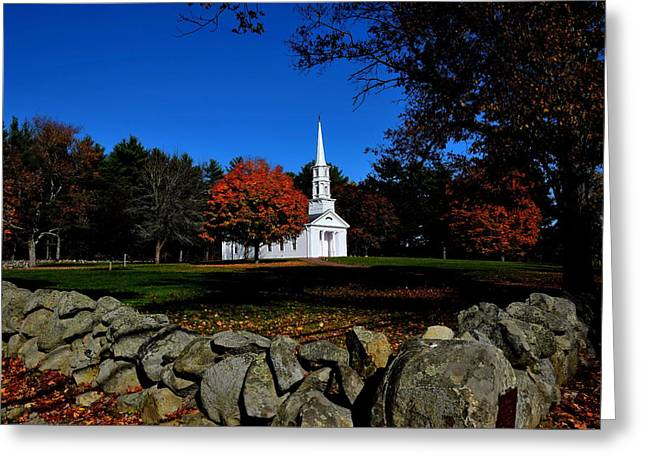 Marth-mary Chapel Greeting Card by Brian Mooney