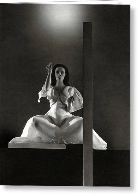 Martha Graham In Primitive Mysteries Greeting Card by Edward Steichen