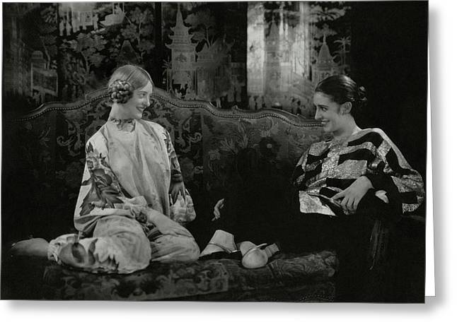 Martha Lorber And Marion Morehouse Greeting Card by Edward Steichen