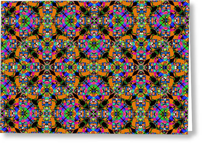 Marti Gras Carnival Jester Abstract 20130129v101 Greeting Card by Wingsdomain Art and Photography