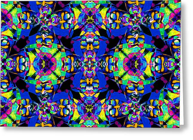 Marti Gras Carnival Jester Abstract 20130129v5 Greeting Card by Wingsdomain Art and Photography