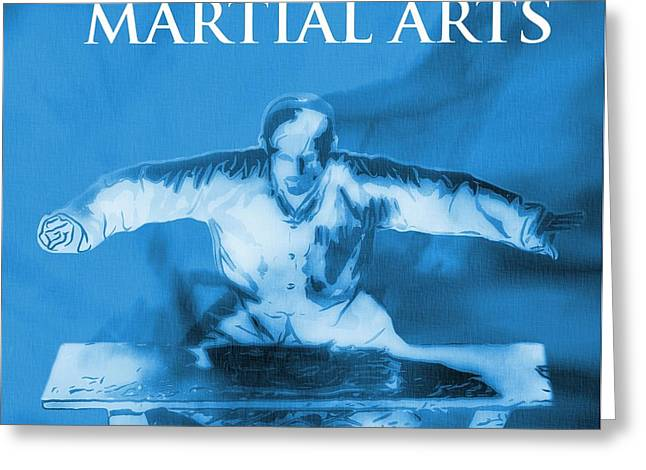 Martial Arts Poster Greeting Card by Dan Sproul