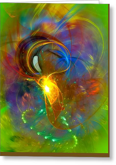 Martian Dance - Cool Alien Art Greeting Card