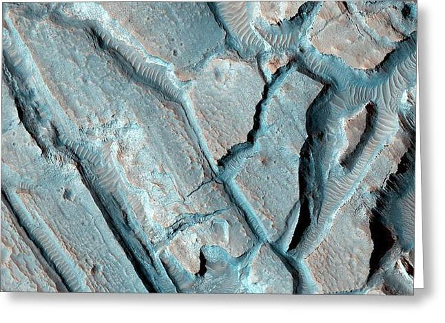 Martian Lake Sediments Greeting Card