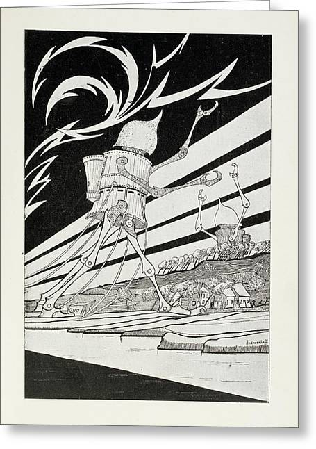 Martian Tripods Greeting Card by British Library