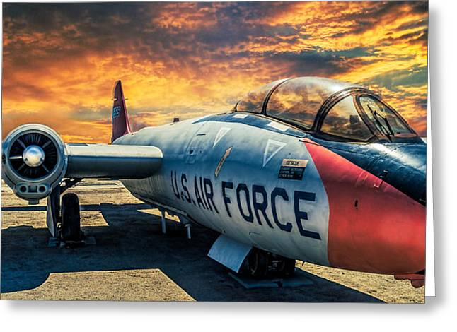 Martin B-57 Greeting Card by Steve Benefiel