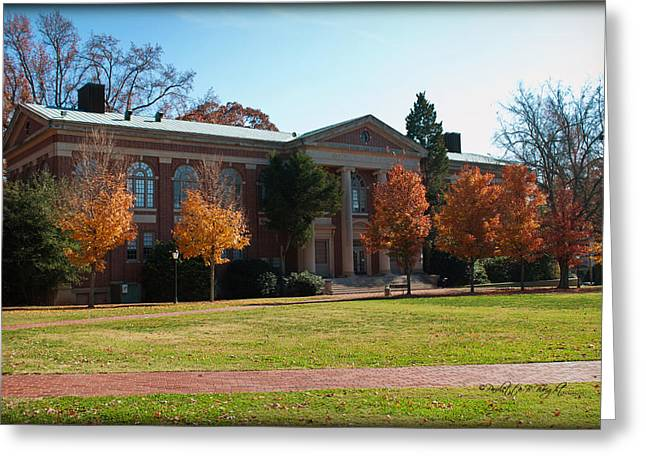 Martin Chemistry Lab - Davidson College Greeting Card by Paulette B Wright