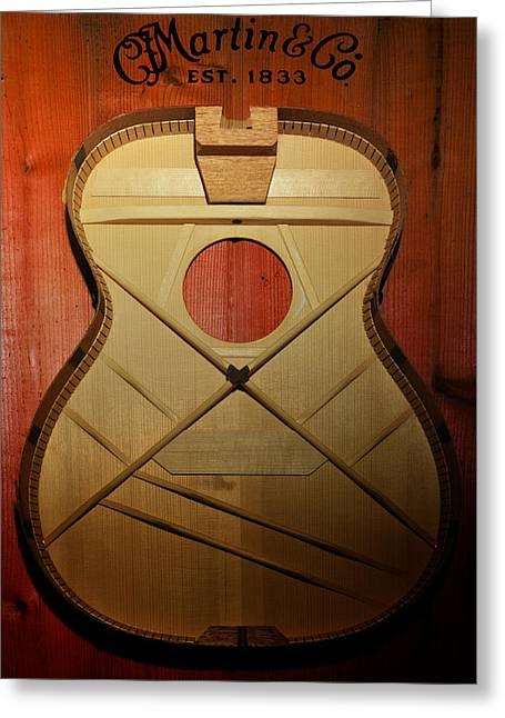 Martin Guitar - No Guts No Glory Greeting Card by Bill Cannon