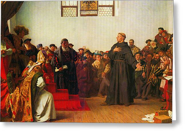Martin Luther Before The Diet Of Worms Greeting Card