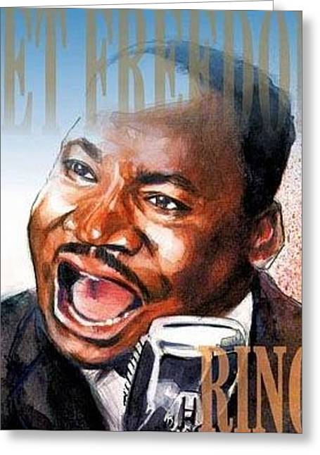 Martin Luther King Greeting Card by Gregory DeGroat