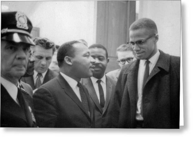 Martin Luther King Jnr 1929-1968 And Malcolm X Malcolm Little - 1925-1965 Greeting Card