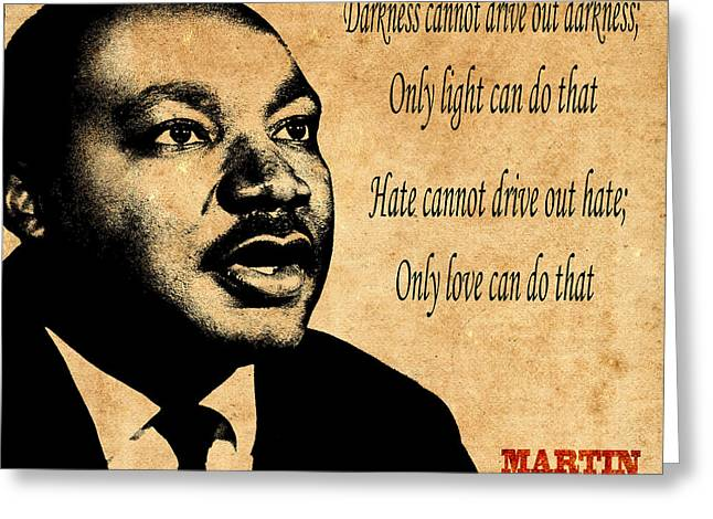 Martin Luther King Jr 1 Greeting Card by Andrew Fare