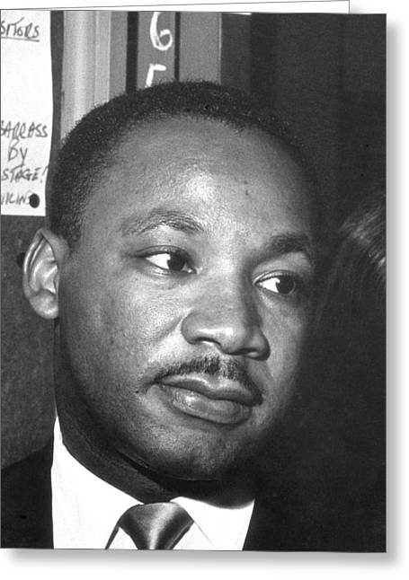 Martin Luther King, Jr Greeting Card by Joseph De Casseres