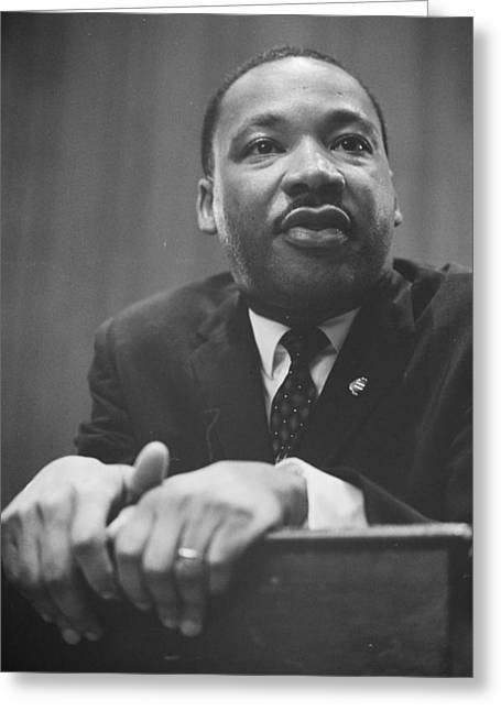 Martin Luther King Press Conference 1964 Greeting Card by Anonymous