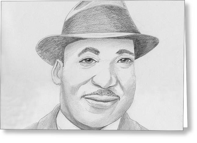 Martin Luther King Sketch Greeting Card