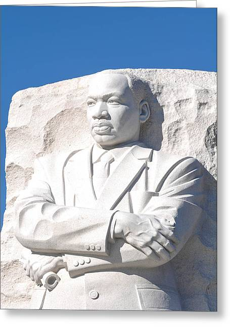 Martin Luther King Statue Greeting Card by Brandon Bourdages