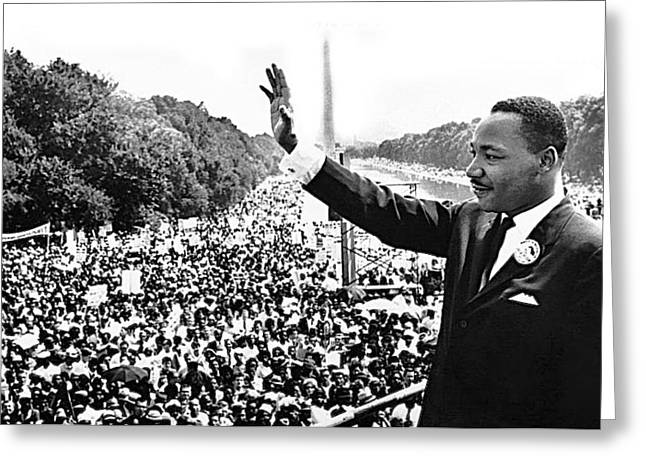 Martin Luther King The Great March On Washington Lincoln Memorial August 28 1963-2014 Greeting Card by David Lee Guss