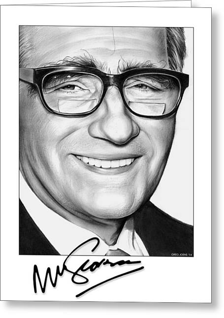 Martin Scorsese Greeting Card
