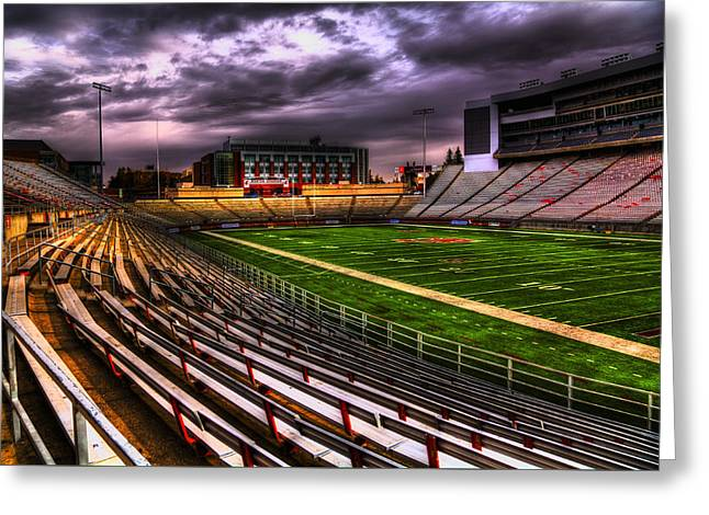 Martin Stadium - Home Of Wsu Football Greeting Card by David Patterson