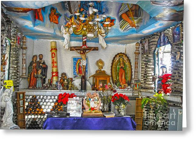 Martin Tios Tacos -  Chapel Greeting Card by Gregory Dyer