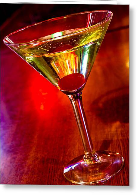 Martini At The Local Pub Greeting Card