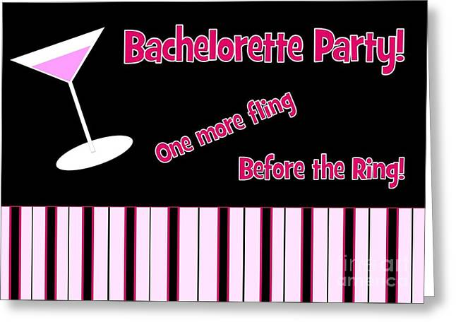 Greeting Card featuring the digital art Martini Bachelorette by JH Designs