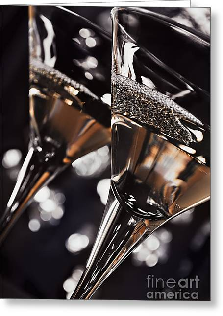 Martini Glasses Greeting Card by Jelena Jovanovic