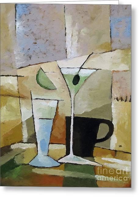Martini Greeting Card by Lutz Baar