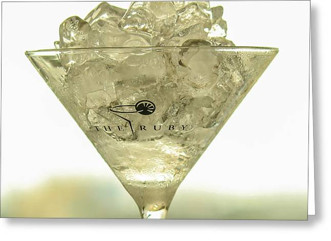 Martini On The Rocks Greeting Card by Rene Triay Photography