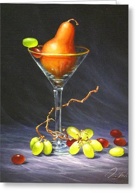 Martini Greeting Card by Sean Taber
