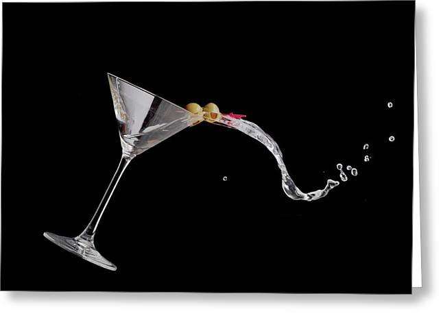 Martini Spill Greeting Card