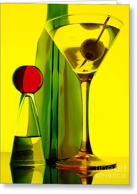 Greeting Card featuring the photograph Martini by Trena Mara