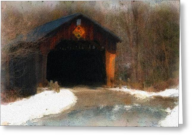 Martinsville Covered Bridge Greeting Card by Mike Martin