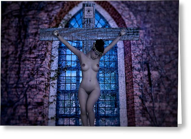 Martyr Of The Church V Greeting Card by Ramon Martinez