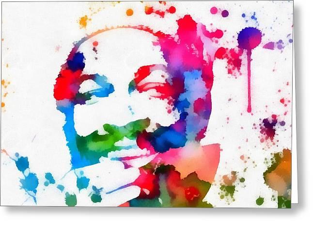 Marvin Gaye Paint Splatter Greeting Card
