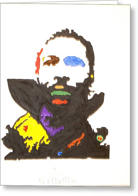 Greeting Card featuring the painting Marvin Gaye by Stormm Bradshaw